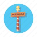 nort, pole, sign, chrismast, direction, location, christmas