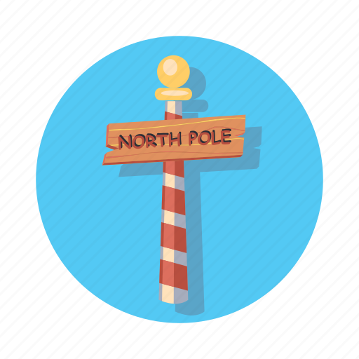 chrismast, christmas, direction, location, nort, pole, sign icon