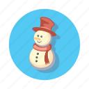 snowman, christmas, decoration, snow, xmas