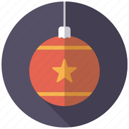bauble, christmas, decoration, holidays, ornament, season, winter icon