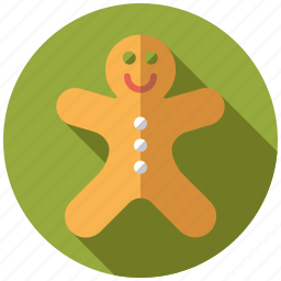 christmas, cookie, gingerbread man, holidays, season, sweets, winter icon