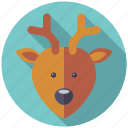 animal, christmas, holidays, reindeer, season, winter icon