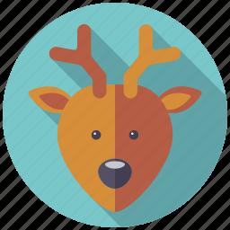 animal, christmas, holidays, reindeer, season, winter icon