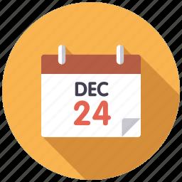 calendar, christmas, december 24, holidays, holy night, season, winter icon