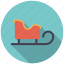 christmas, holidays, season, sled, transportation, winter icon