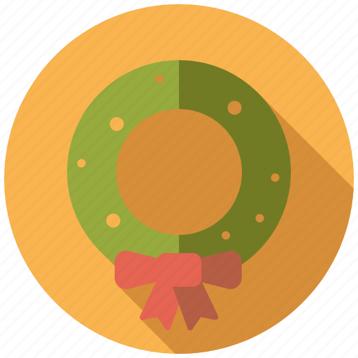 bow, christmas, holidays, holly, season, winter, wreath icon
