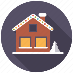 christmas, christmas lights, holidays, house, illumination, season, winter icon
