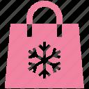 .svg, bag, christmas, season, shopping, snow, winter icon
