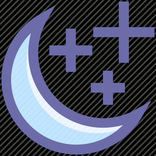 .svg, christmas, decoration, moon, moon stars, stars, weather icon
