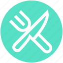 .svg, diagonal, fork, fork and knife, kitchen, knife icon