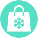 .svg, bag, christmas, season, shopping, snow, winter icon