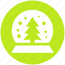 .svg, christmas, christmas tree, globe, pine, snow, tree icon
