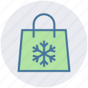 bag, christmas, season, shopping, snow, winter