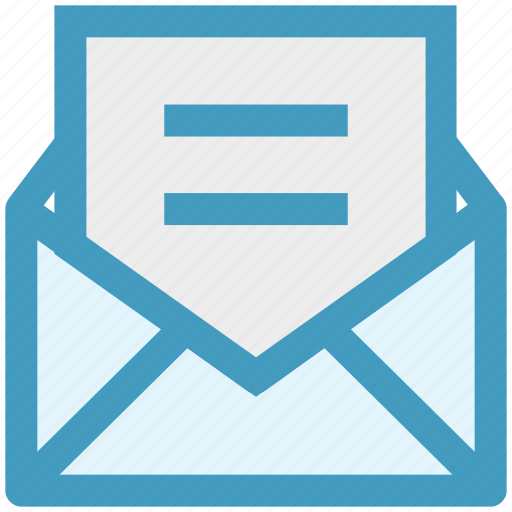 email, envelope, letter, message, open, sheet icon