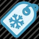 flake, price, shopping, snow, tag, winter icon