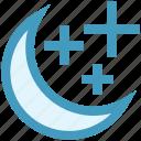 christmas, decoration, moon, moon stars, stars, weather icon