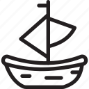 boat, christmas, festival, holiday icon