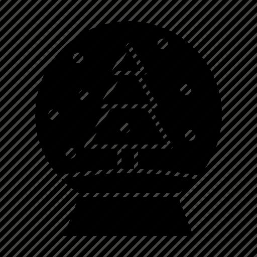 ball, christmas, globe, snow icon