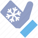 .svg, christmas, christmas glove, cold, glove, hand glove, snow flake icon
