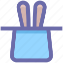.svg, hat, magic, magic hat, magician hat, rabbit, wizard icon