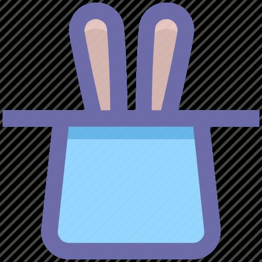 .svg, hat, magic, magic hat, magician hat, rabbit, wizard icon