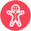 .svg, christmas, cookie, ginger, gingerbread, gingerbread man, man icon