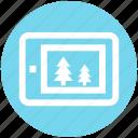 .svg, christmas, christmas shopping, ecommerce, eshop, mobile, trees icon
