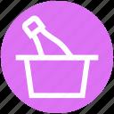 .svg, basket, bottle, cart, celebration, party, trolley icon