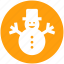 .svg, christmas, man, snow, snowman, winter icon