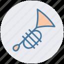 instruments, band, music, trombone, brass, trumpet icon