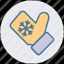 snow flake, glove, christmas glove, cold, christmas, hand glove icon