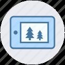 christmas, christmas shopping, ecommerce, eshop, mobile, trees icon