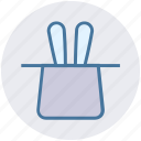 hat, magic, magic hat, magician hat, rabbit, wizard icon