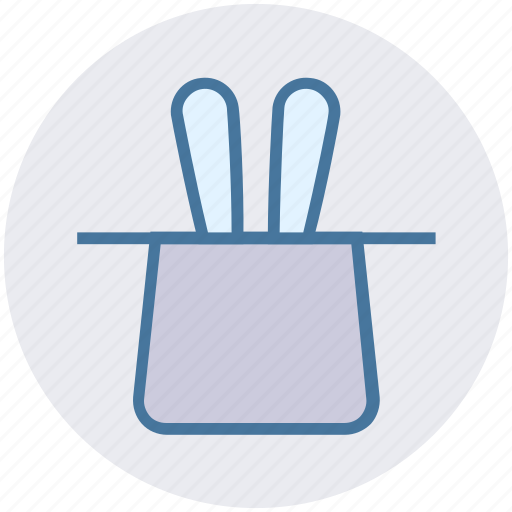 Hat, magic, magic hat, magician hat, rabbit, wizard icon - Download on Iconfinder