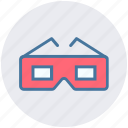 cinema movie glasses, glasses, movie, sunglasses, view icon
