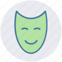 entertainment, mask, leisure, face, anonymous, happy icon