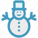christmas, man, snow, snowman, winter icon