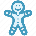 christmas, cookie, ginger, gingerbread, gingerbread man, man icon