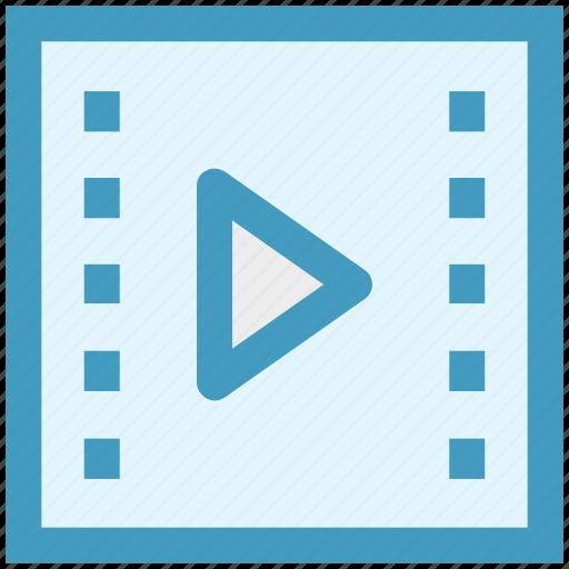 film, film recording, movie, multimedia, play, video icon
