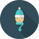 boy, christmas, winter, woman, xmas icon