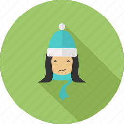 christmas, girl, winter, woman, xmas icon
