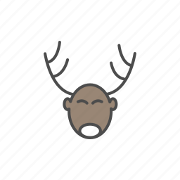 christmas, claus, deer, gift, santa, xmas icon