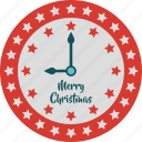 alarm, christmas, clock, merry christmas, new year, star clock icon