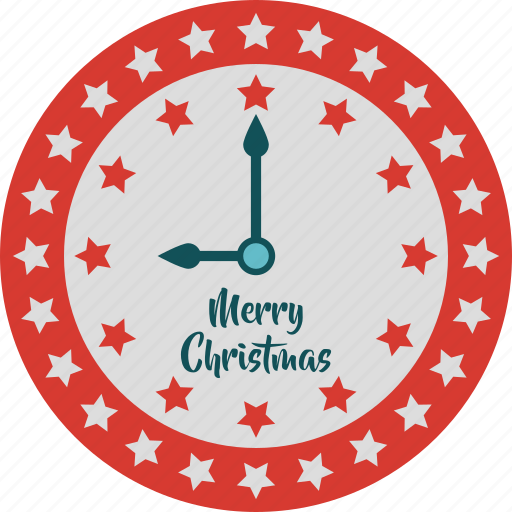 alarm, christmas, clock, merry christmas, new year, star clock icon