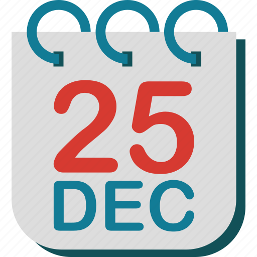 calendar, christmas, day, december, twenty five icon