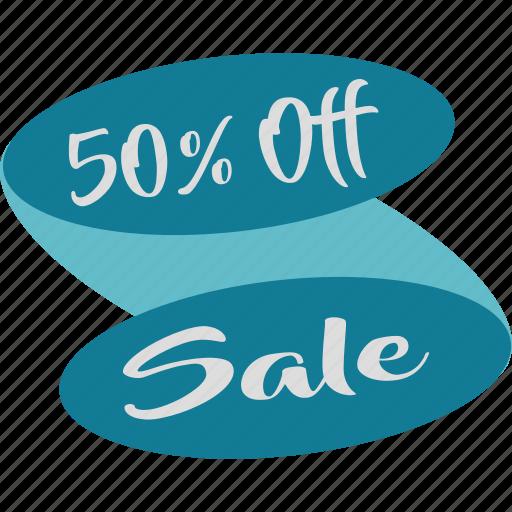 fifty, half, off, percent, sale, save, savings icon