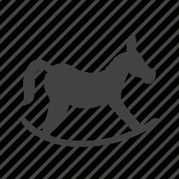 horse, path, riding, rocking icon