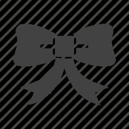 bow, flower, ribbon, waiter icon