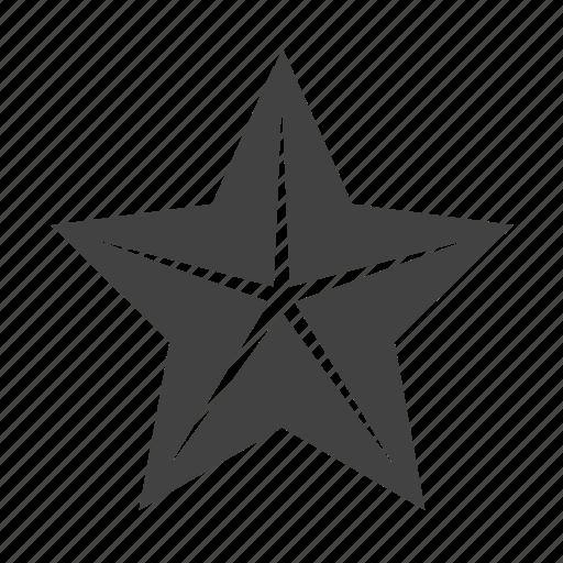 decoration, light, shinning, star icon