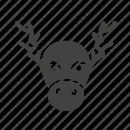 animal, bull, goat, moose icon